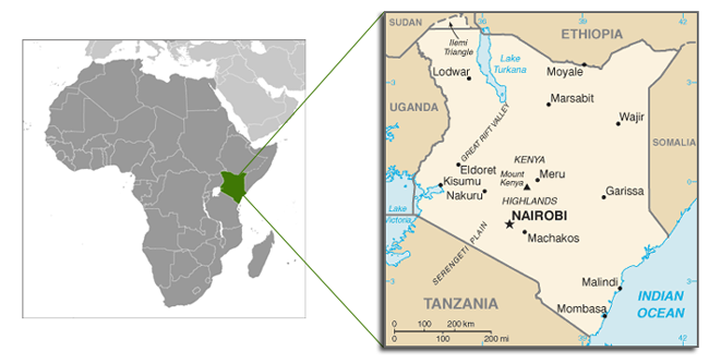 Kenya Map for surveys and conflict recovery
